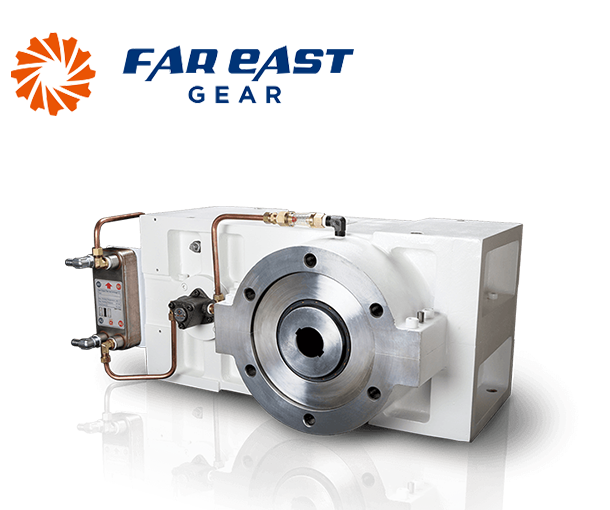 3-Axis single screw extruded gearbox
